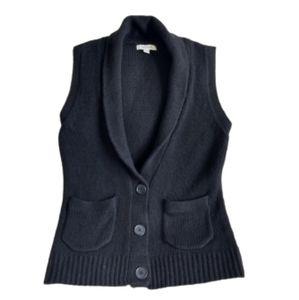 Wool Blend Sweater Vest XXL Black Merona Shawl